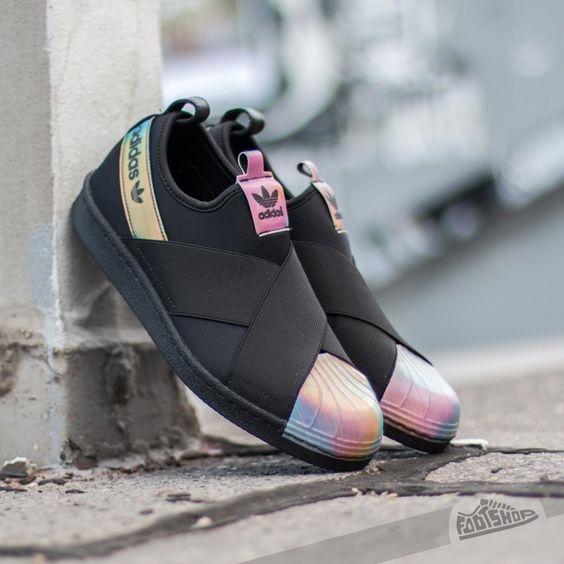 Adidas Superstar Slip On รองเท้าผ้าใบสไตล์มินิมอล (4)