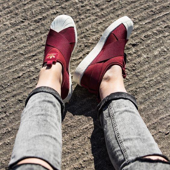 Adidas Superstar Slip On รองเท้าผ้าใบสไตล์มินิมอล (8)
