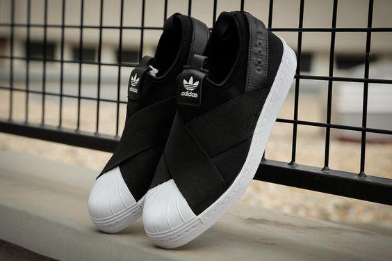 Adidas Superstar Slip On รองเท้าผ้าใบ สไตล์มินิมอล (2)