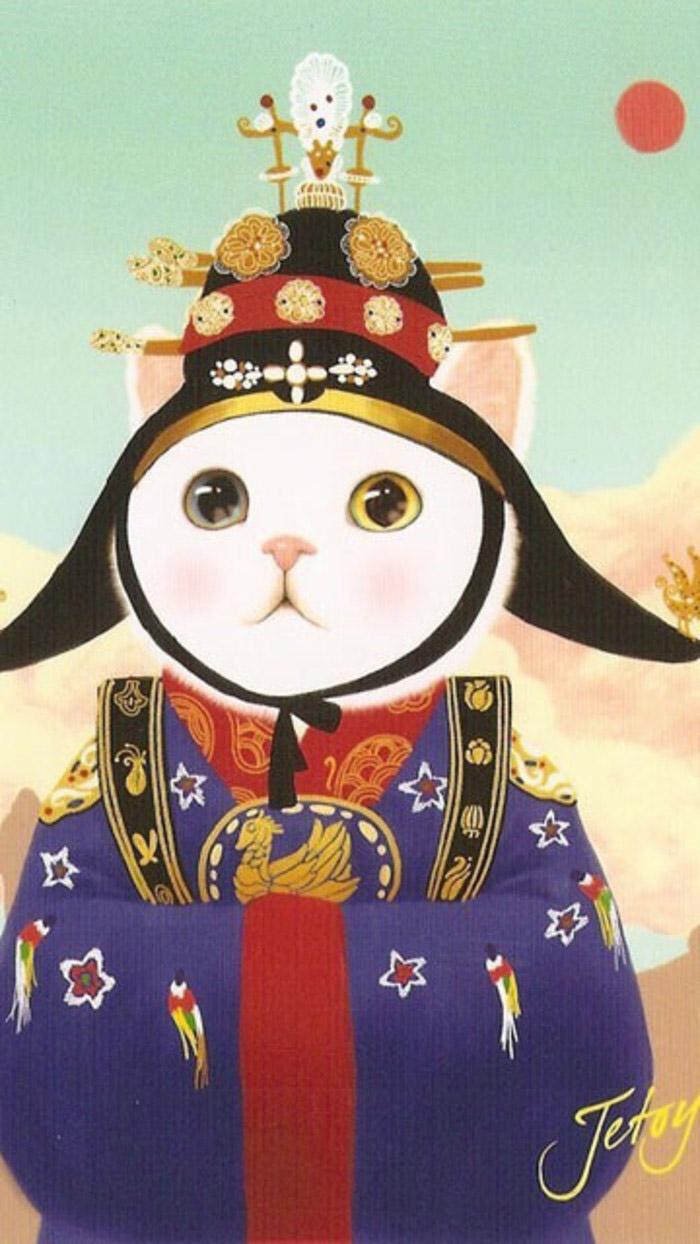 ภาพการ์ตูนแมวน่ารักจากศิลปินชาวเกาหลี Jetoy.co.k