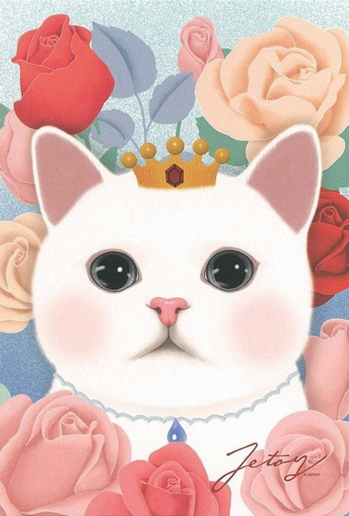 การ์ตูนแมวน่ารัก