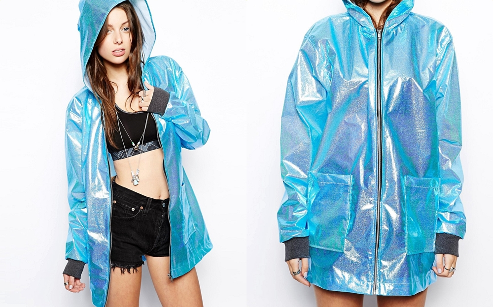 The Ragged Priest Hologram Metalic Hooded Rain Coat