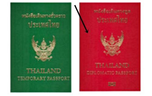 thai diplomatic passport red