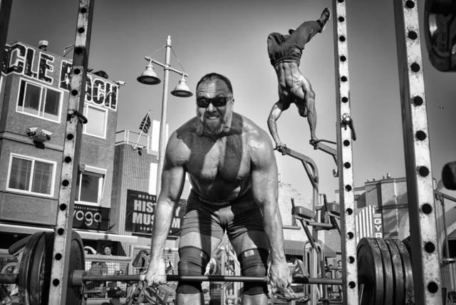 HONORABLE MENTION, PEOPLE  Muscle Beach Gym Photo by Dotan Saguy