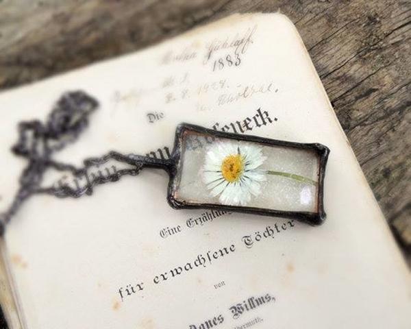 necklace,ring vintage flower (10)