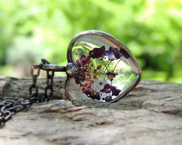 necklace,ring vintage flower (13)
