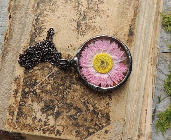 necklace,ring vintage flower (8)