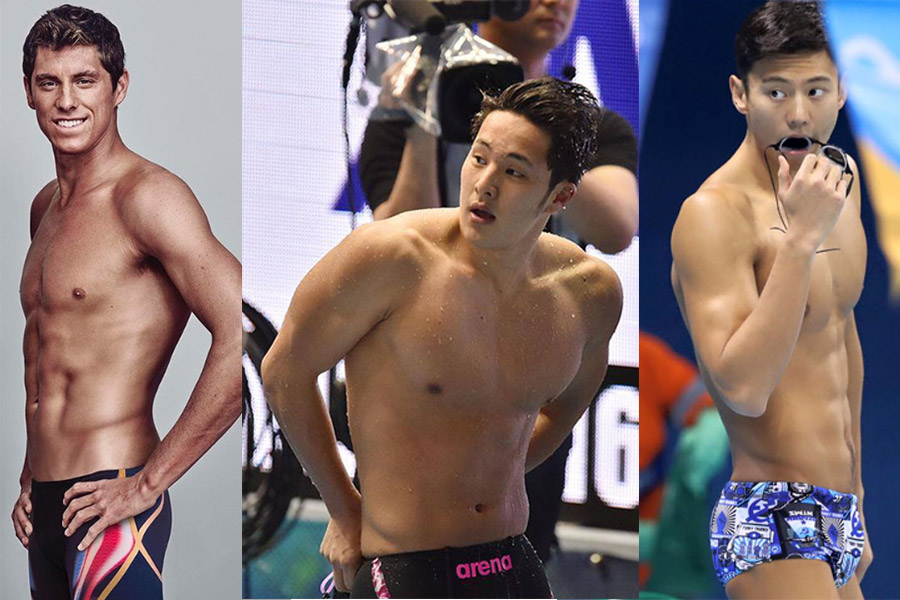 นักกีฬา นักกีฬาว่ายน้ำ หน้าหน้าใส โอลิมปิค