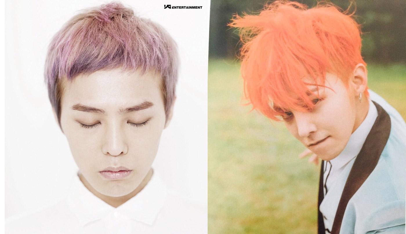 รวมภาพสีผม ของ จียง G-Dragon