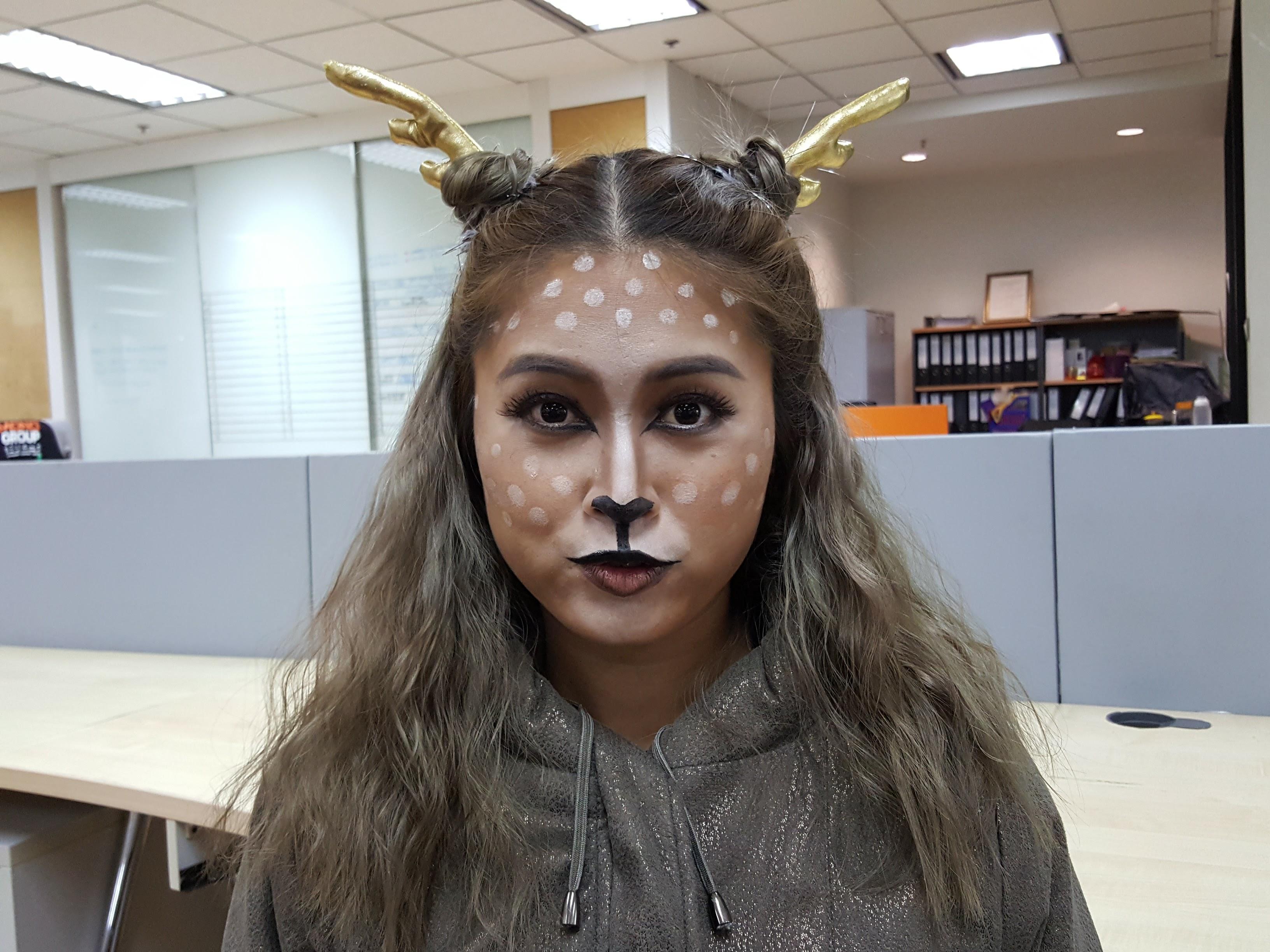 deer makeup tutorial รีวิวแต่งหน้า ฮาโลวีน แต่งหน้าผี