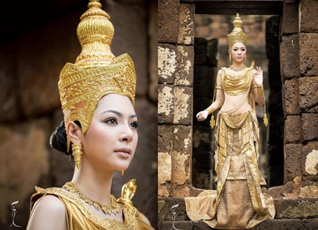 Dewa Miss Grand International 2016 Miss Grand Thailand ชุดไทย ฝ้าย สุภาพร