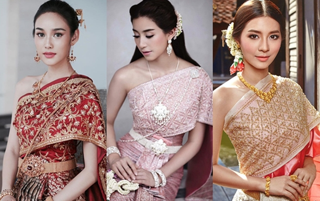 ชุดไทย ดาราวัยรุ่น ดาราในชุดไทย ดาราใส่ชุดไทย