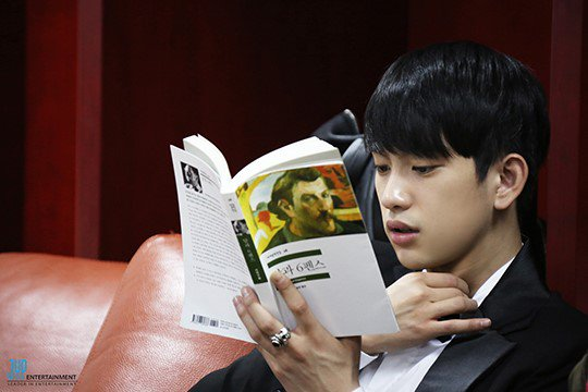 GOT7 งานสัปดาห์หนังสือแห่งชาติ จินยอง จินยองอ่าน ไอดอลเกาหลี
