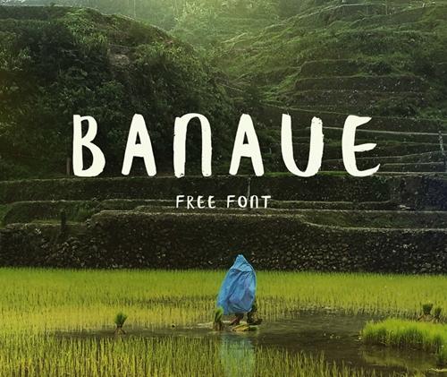 Banaue Free Brush font