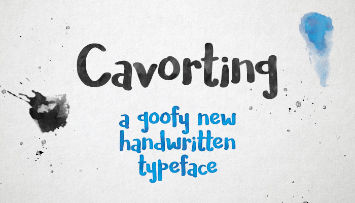 Cavorting - a free handwriting font!
