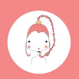 Horoscope Scorpio sign, girl head