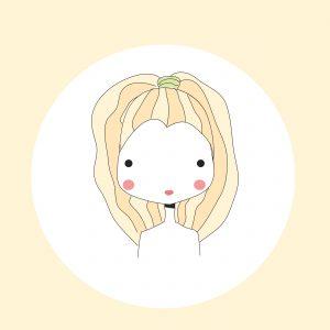 Horoscope Leo sign, girl head