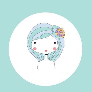 Horoscope Virgo sign, girl head