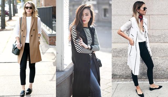 Long Vest เสื้อกันหนาว เสื้อคลุมตัวยาวแบบแขนกุด แฟชั่น แฟชั่นฤดูหนาว