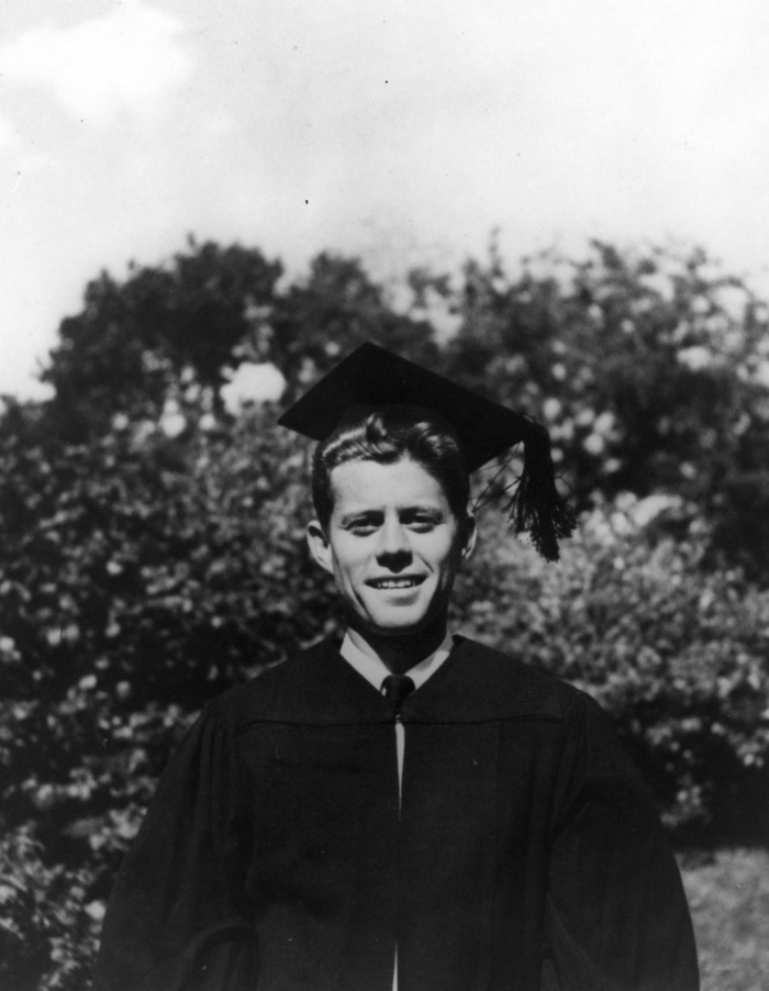 PC 21 20 June 1940 John F. Kennedy graduates from Harvard University. Cambridge, Massachusetts. John F. Kennedy Library
