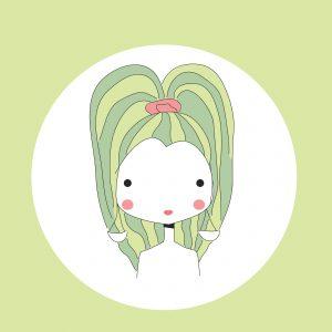 Horoscope Libra sign, girl head