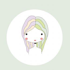 Horoscope Gemini sign, girl head