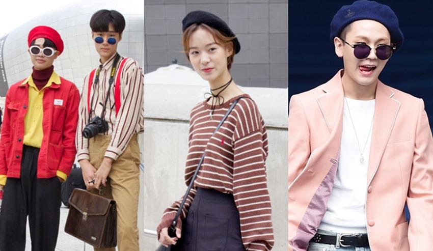 SeoulFashionWeekS หมวกเบเร่ย์ แฟชั่นหมวก แฟชั่นเกาหลี