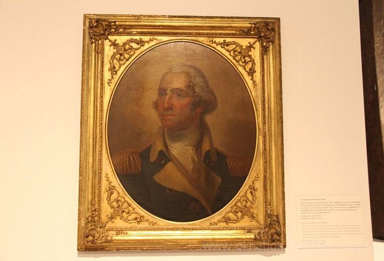 ประธานาธิบดีสหรัฐอเมริกา พระบาทสมเด็จพระปิ่นเกล้าเจ้าอยู่หัว ภาพสีน้ำมัน ยอร์ช วอชิงตัน วังหน้า