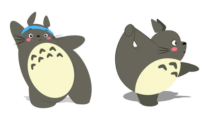 Animation Studio Ghibli Totoro การ์ตูน โตโตโร่