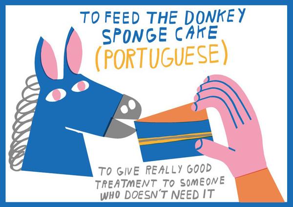 To feed the donkey sponge cake