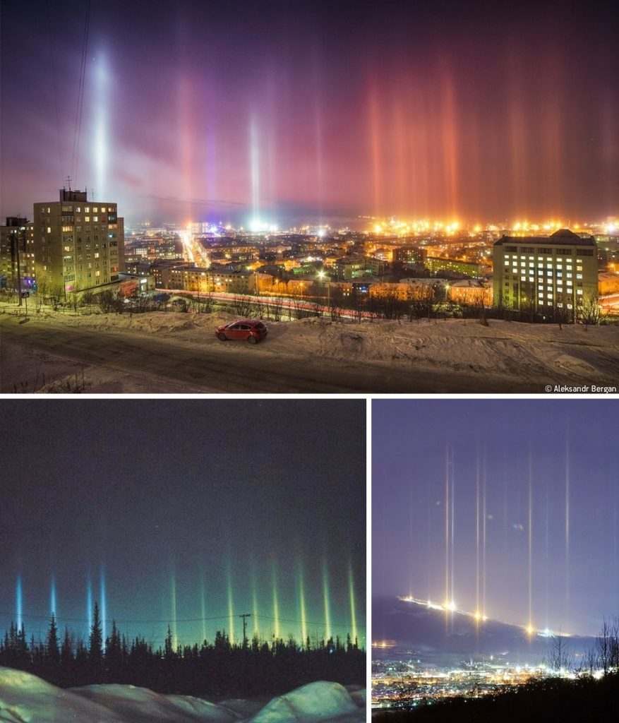 3 Light pillars