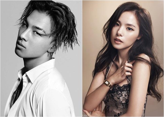 5 BigBang's Taeyang and Min Hyo Rin