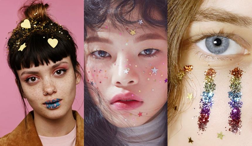 Glitter Makeup ปีใหม่ ผมกลิตเตอร์ แต่งหน้าสไตล์กลิตเตอร์ แฟชั่น