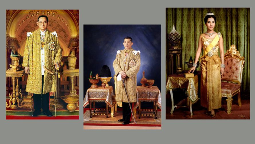 การประดับพระบรมฉายาลักษณ์ พระบรมฉายาลักษณ์ พระมหากษัตริย์ไทย พระเจ้าอยู่หัว รัชกาลที่ 9 ราชวงศ์ ในหลวงรัชกาลที่ 10 ในหลวงรัชกาลที่ 9
