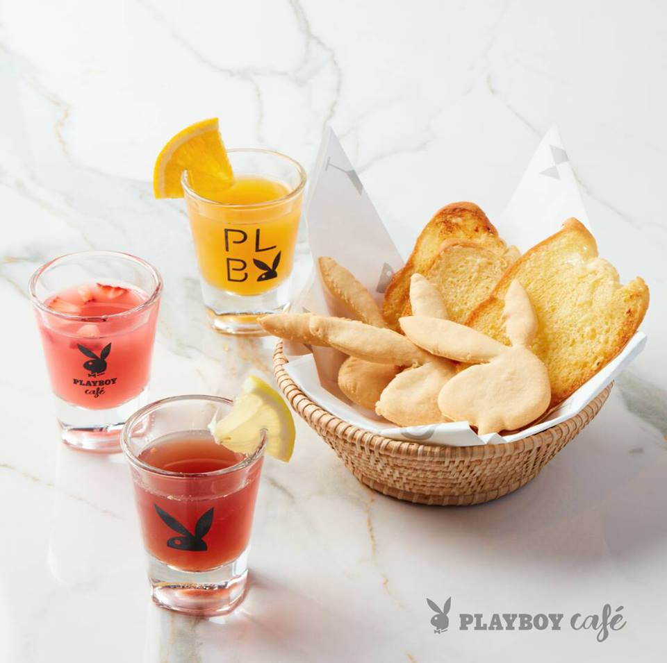 Bunny toast & Playboy welcome drink