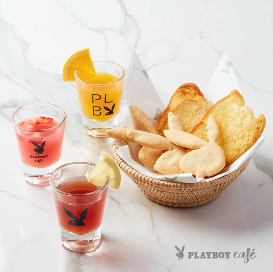 Bunny toast & Playboy welcome drink