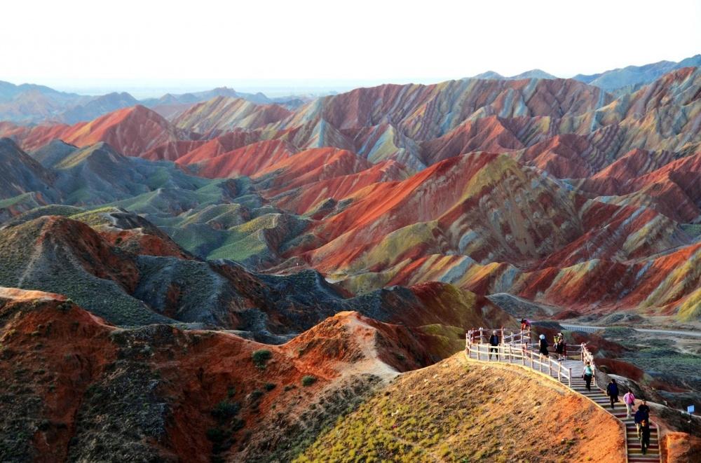 The rainbow mountains of Zhangye Danxia, China