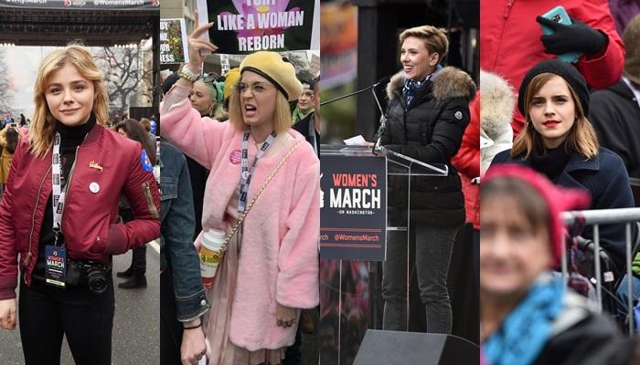 Women's March บันเทิงฮอลลีวูด