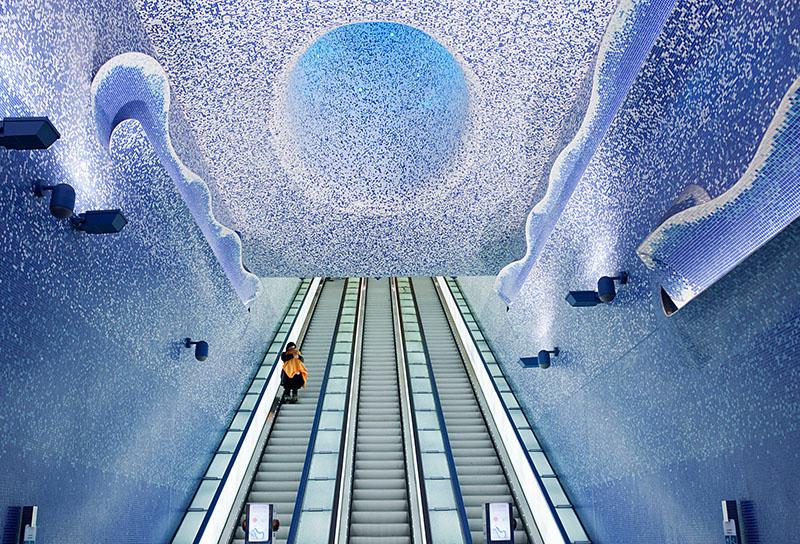 งานศิลปะ ภาพสวย สถานที่สวยๆ สถานีรถไฟใต้ดิน
