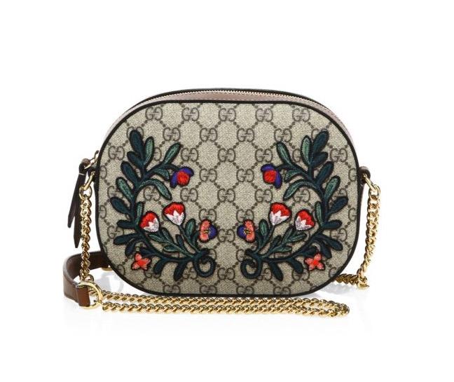 Gucci, Embroidered GG Supreme Camera Bag