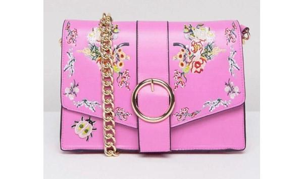 ASOS, Floral Embroidered Shoulder Bag