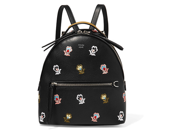 Fendi, Backpack With Embroidered Flowers