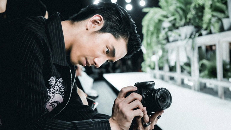Canon kayavinee กล้อง บางกอก อินเตอร์เนชั่นแนล แฟชั่น วีก 2017 เค เลิศสิทธิชัย เน็ตไอดอล