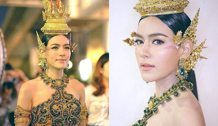 คิมเบอร์ลี ดาราในชุดไทย นางสงกรานต์ วันสงกรานต์