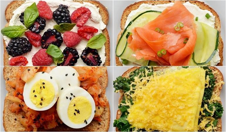 food ขนมปังปิ้ง มื้อเช้า อาหาร