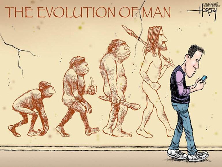 การ์ตูนเสียดสีสังคม วิวัฒนาการของมนุษย์