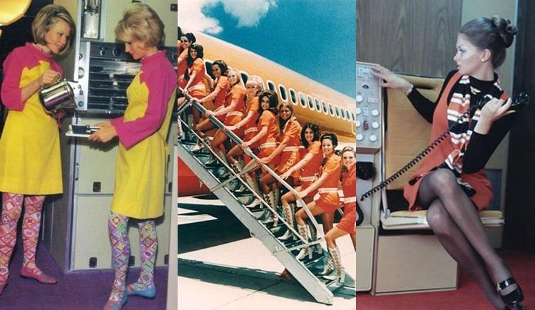 ชุดแอร์โฮสเตส ภาพเก่า ยุค 60-70 วินเทจ แฟชั่น