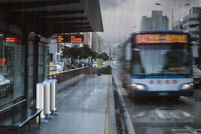 UltraDry Dryer in bus stop