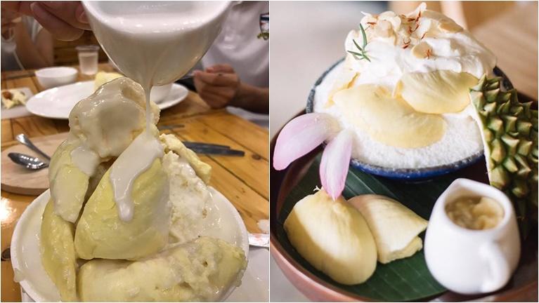 ขนมหวาน บิงซูทุเรียน ผลไม้