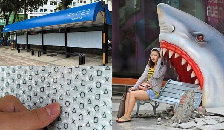 ครีเอทีฟ ป้ายรถเมล์ ภาพแปลก เรื่องแปลก ไอเดีย